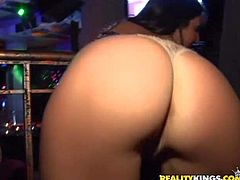 Danica Blue and her aroused and hot ass girl friends enjoy in Ramons company in the dance club and get really dirty at one point and start licking each other on the stage