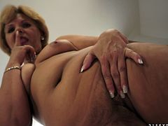 A kinky dick digging granny loves being slammed