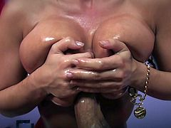 These ladies love to give massages and get nailed all in one package. Watch them massaging their clients before sucking and fucking their big cocks.