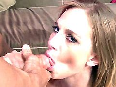 Amateur college whore Katie Zane does the wonderful blowjob