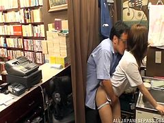 teacher and student's hidden library affair