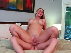Nasty asshole licked freak Kris Slater got his girlfriend Tanya Tate in doggy pose and licking up asshole before wild fuck action!