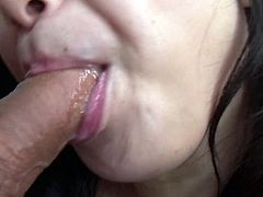 Kawaii Japanese nympho Hina Maeda provides two hot dicks with handjob
