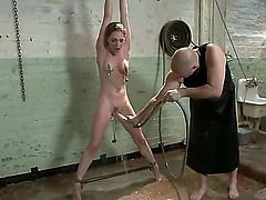 Beautiful babe Bobbi Starr is being tied up and is having her nipples and her cunt nicely pleased by her new girlfriend Lily LaBeau and wonderful Mark Davis.