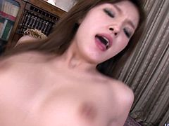 Jaw dropping Japanese babe rides stiff penis in reverse cowgirl style while her mouth is busy giving an upside down blowjob in sultry threesome sex video by Jav HD.