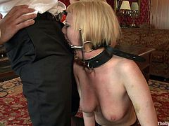 Discipline is mandatory in the house, and this slaves have embarrassed the code of behavior. Watch this master inflicting pain in her restrained submissives.