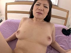 Passionate MILF whore Ichika Asagiri is hammered bad in a missionary position