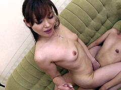Jaw dropping Japanese milf oral fucks two sturdy cocks at a time before she a third cock joins them. Later she sticks hard penis inside her bearded pussy for a ride in cowgirl style while rubbing another sturdy cock in sultry threesome sex video by Jav HD.