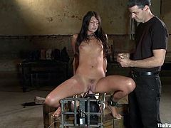 Stunning girl and a guy are two sex slaves. They have to do everything what they are ordered to do. Surely, this girl gets pounded.