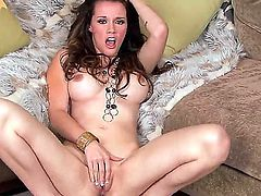 So this time we have big-boobed Raven Alexis and she wants to masturbate a little. How do you know, she is a crazy slut with dirty dreams and prefers to shock the audience. Just watch