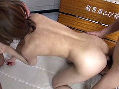 Gosh, this awesome and hot lover, called Yui Misaki is surely a great dick rider. Torrid nympho with smooth ass never minds getting both her anus and wet too hairy pussy polished. So DP is surely the best way to reach orgasm tonight.