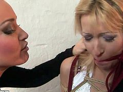 Kathia Nobili dominates over tied up blonde