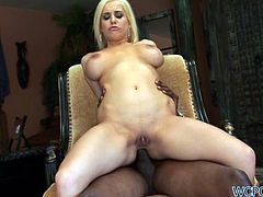 Mariah Madysin is a big boobed blonde who's going to get her asshole penetrated today by a big black cock in this anal interracial sex clip.