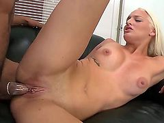 Sexy kitten Maci Lee loves to work with big cocks and today she has a good chance to swallow her neighbors yummy wiener and ride it on a comfy sofa. She is so happy, you cant even imagine
