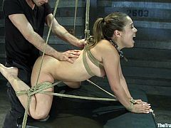 It's ridiculous how badly this girl gets humiliated on camera. They pull no punches when it comes to tying her up and giving her a BDSM experience she will not forget.
