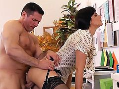 Hello people! Today you will watch and amazing and hardcore fuck with dangerous and horny brunette bitch named Bobbi Starr and her fucker John Strong! Enjoy!!!