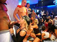 Kinky chicks with sweet tits have a strong desire to be fed with sperm. So ordinary get-together turns into a super hot orgy party. Amazing nymphos with sweet tits and smooth asses do their best while riding and sucking dicks. Gosh, I wish I were there too.