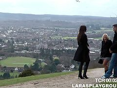 Darkhead MILF offered to the couple to film in a porn movie. They agreed so the group went indoor. Anna joy has got involved in a hot lesbian sex action.