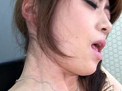 Ardent slim secretary from Japan has her own method to relax. Voracious horny chick with nice tits is in stockings and warms up with electric vibrator. Horn-mad chick kneels down and sucks a hot dick for cum right in the office. Dude, don't pass by this incredibly hot Jav HD sex clip to jizz of satisfaction right away.