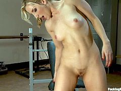 Ashley Fires warms up with the vibrator and then the anal machine does its work. Get ready for machine assisted self stimulation in this clip!