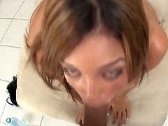 Wonderful POv oral scene with elegant and horny prostitute Melanie Rios. Mr. Pete uses his gigantic erected penis for deep throat penetrations and ass drilling. Enjoy this tasty scene!