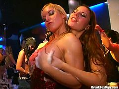 Welcome to enjoy really hot orgy party with Tainster sex clip. Amazing sluts do their best for reaching orgasm. Already naked and tipsy bend over the stage for being fucked from behind. The kinkiest whores with sweet tits enjoy both riding and sucking tools for sperm. Gosh, I wish I were there.