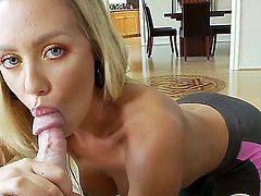 Nicole Aniston gets throat banged the way she loves it