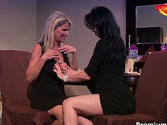 Two gorgeous milfs are here and they are eager for sex pleasure. They start to fondle each other and after masturbate simultaneously.