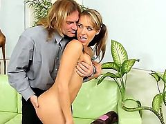Ella Milano enjoys cock sucking too much to stop in steamy oral action with Evan Stone
