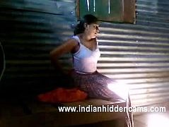 Indian housewife in store room round her man lift her top off to exposed her breast