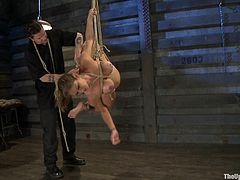 Have a look at this breath taking bondage clip where a smoking hot babe's tied up by her master while sitting on top of a Sybian that makes her cum over and over