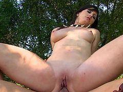 Slutty lesbians are having intense pleasure in outdoor softcore porn session