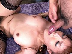 This ardent oriental nympho with nice tits has threesome tonight. All the deserted dirty room fills with loud moans of pleasure while pale slut gets her hairy cunt drilled tough. This incredibly voracious blowlerina presented in Jav HD sex clip will surely make you jizz.