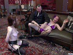 See how these ladies have a great time playing with one another as their master tortured them in this bondage clip.