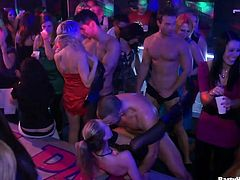 Let's get the party started! Spoiled slim brunettes and blondies are all the great dick suckers. Being tipsy voracious chicks get ready to take part in the kinky competition, where they win chance to be fucked missionary tough.