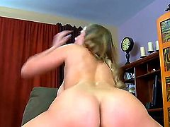 Alanah Rae with round ass and shaved snatch enjoys hard fucking with her bang buddy Jordan Ash too much to stop