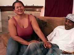 This gorgeous mature woman has pillowy boobs and fat ass! When it comes to cocks that babe is unstoppable! She rides her lover in cowgirl pose, pushing herself to the limits of her endurance and then it's his turn to fuck her hard.