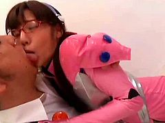 Japanese teen gets nailed by her teacher and forced to swallow for better grades