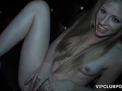 Wasted teen sluts getting their pussies pounded at VIP orgy