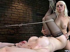 They start it so sensual and the scene ends up with a severe anal penetration. Lorelei Lee is the one who dominates over that busty and smoking hot tranny!