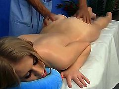 Teen honey Marika had no idea that she will get a nice massage of her tight little pussy as well. That is what made her even hornier and you