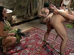 It's crazy femdom fuck fest with girls like Bobbi Starr and Isis Love playing, tying, strapon fucking and humiliating guys!
