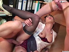 Wild, wet and messy threesome adventure with two scorching sluts