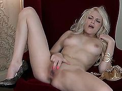 Bree Daniels gives pleasure to herself with the help of sex toy