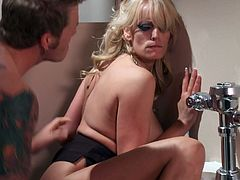 Blonde milf likes having young cock fucking her hard and making her moan