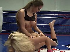 Cathy Heaven and Ivana Sugar do not share a man and decided to solve this problem on the ring