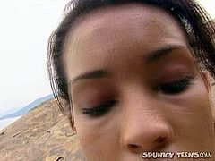 This black head isn't pretty, but kinky bitch is cute for sure. Slim Brazilian harlot with small tits is true fan of anal fuck. This wondrous blowlerina desires to give a solid blowjob for sperm right on the cliffs. Check this filth in Pack of Porn sex clip to jizz at once.