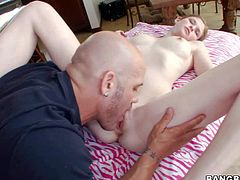 Young pale skinned girl Lara Brookes needs massage badly She makes no secret of her small tits and clean pussy. Totally naked young chick gets every inch of her body touched by dirty masseur who turns her on to the point of no return. He makes his fingers disappear in her tight vagina.