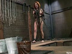 This girl loves BDSM. She gets chained and face fucked. Later on she gets her ass toyed and fucked hard as she wanted.
