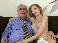 True angel is filming in exciting Jim Slip porn movie. Angle Hott is wearing tempting white lingerie and stockings looking pepper hot. Here, in this video, she performs awesome porn skills.